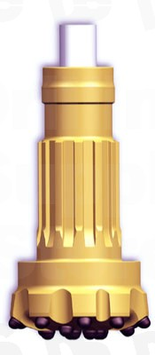 Drill Bit QL 60 DTH-RH450-6in Concave face / Ballistic button (165mm  61/2inch)